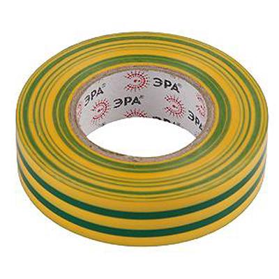 Изолента ЭРА 19мм х 20м Желто-зеленая