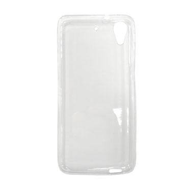 Чехол Gecko Силиконовая накладка для HTC Desire 626G/628, прозрачно-глянцевая, белая