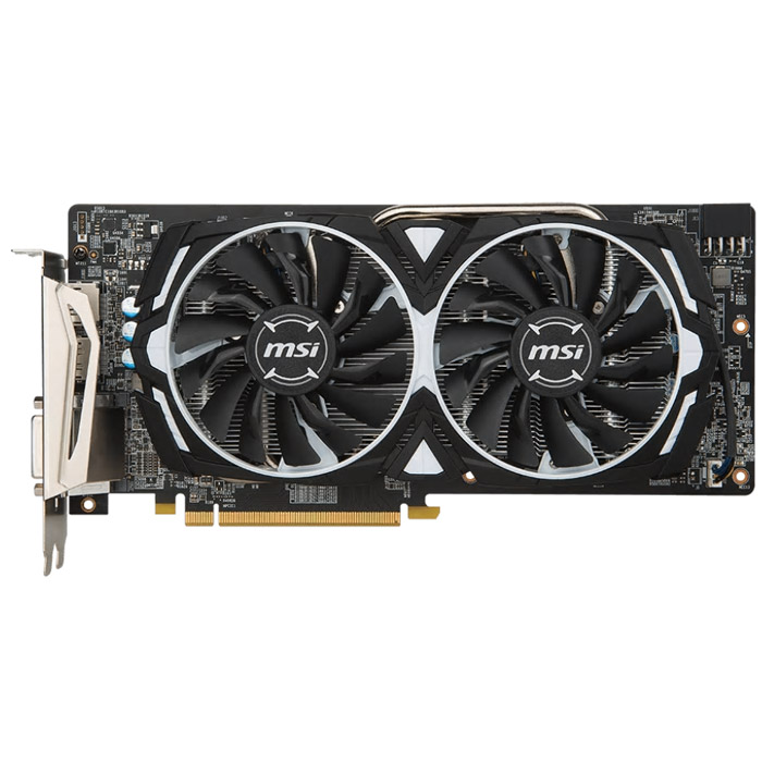 Видеокарта PCI-E MSI ATI Radeon RX 580 4096Mb DDR5 ( RX 580 Armor 4G OC ) Ret