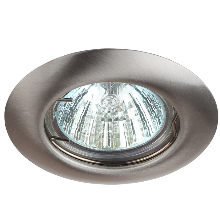 Светильник ЭРА C0043803 ST3 SN MR16 12V/220V 50W сатин никель
