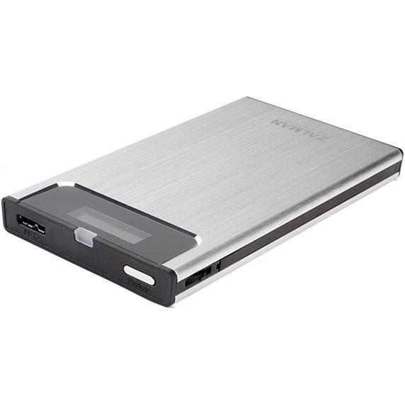 Корпус для HDD 2.5″ SATA-USB3.0 Zalman ZM-VE350 Silver, Alum