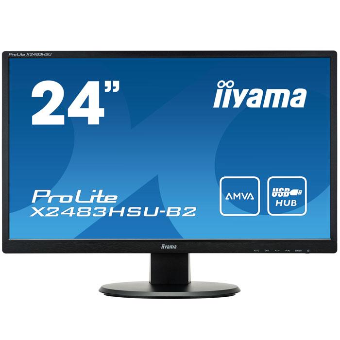 Монитор ЖК Iiyama ProLite X2483HSU-B2 24″ black VGA DVI HDMI
