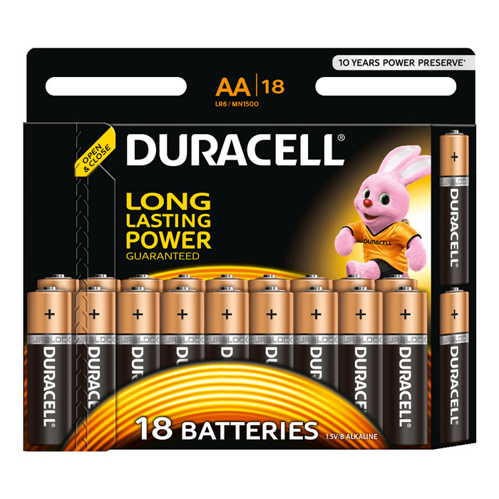 Батарейки Duracell LR6-18BL Basic AA 18шт.