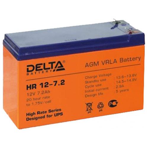 Батарея Delta HR 12-7.2 (12V 7.2Ah)