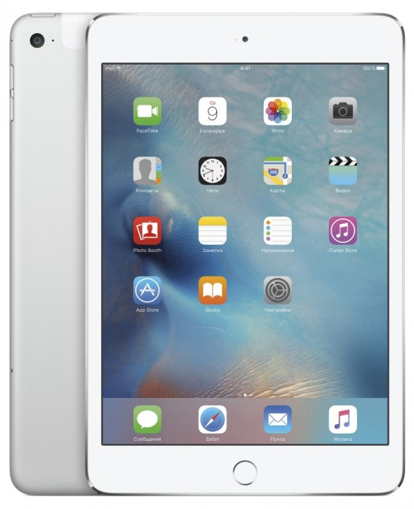 "Планшетный компьютер 7.9"" Apple iPad mini 4, 32Гб Flash, Cellular, Silver (MNWF2RU/A)"