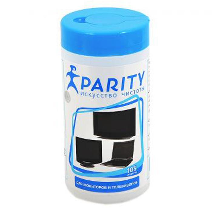 Салфетки чистящие Parity влажные для мониторов и телевизоров туба 105шт. 24062