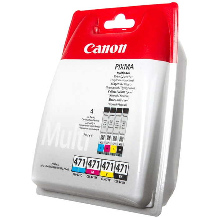 Картридж Canon CLI-471 BK/C/M/Y