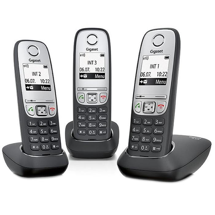 Телефон Dect Siemens A415 Trio black