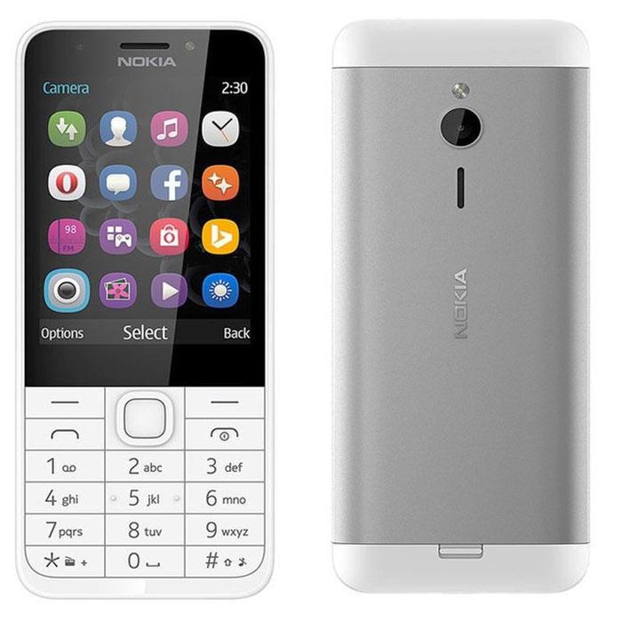 Смартфон Nokia 230 Silver White