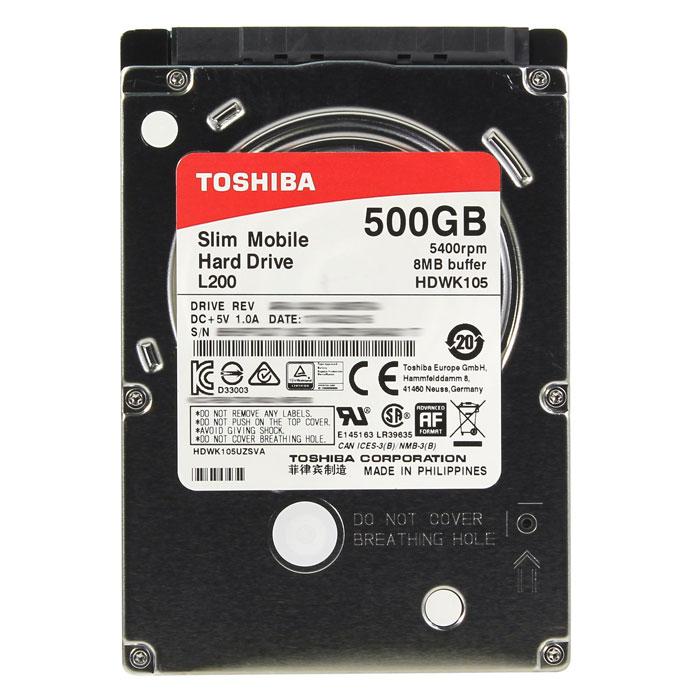 Жесткий диск 2.5″ SATA3 500Мб Toshiba L200, 5400rpm 8mb ( HDWK105UZSVA ) OEM