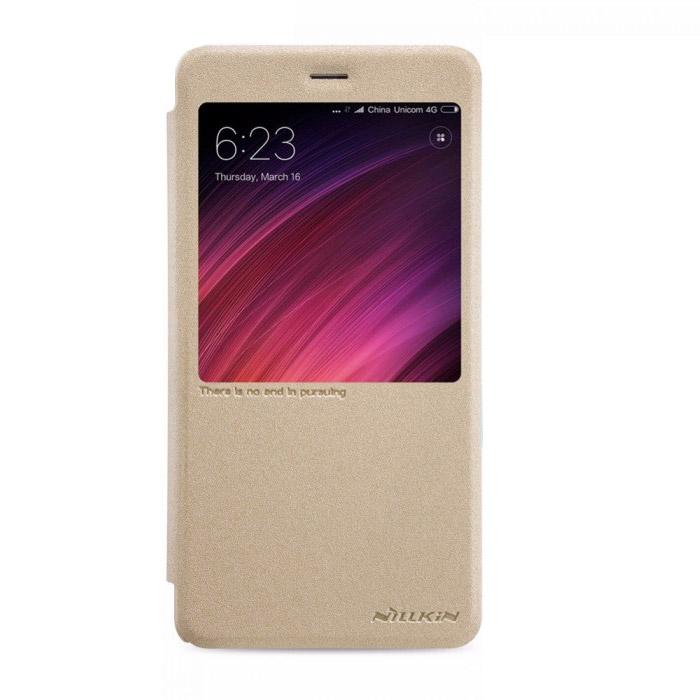 Чехол Nillkin Sparkle leather case для Xiaomi Redmi Note 4X, золотистый