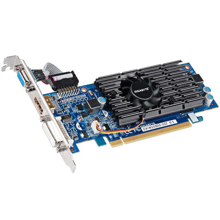 Видеокарта PCI-E GIGABYTE GeForce GT 210 1024Mb, GDDR3 ( GV-N210D3-1GI ) Ret