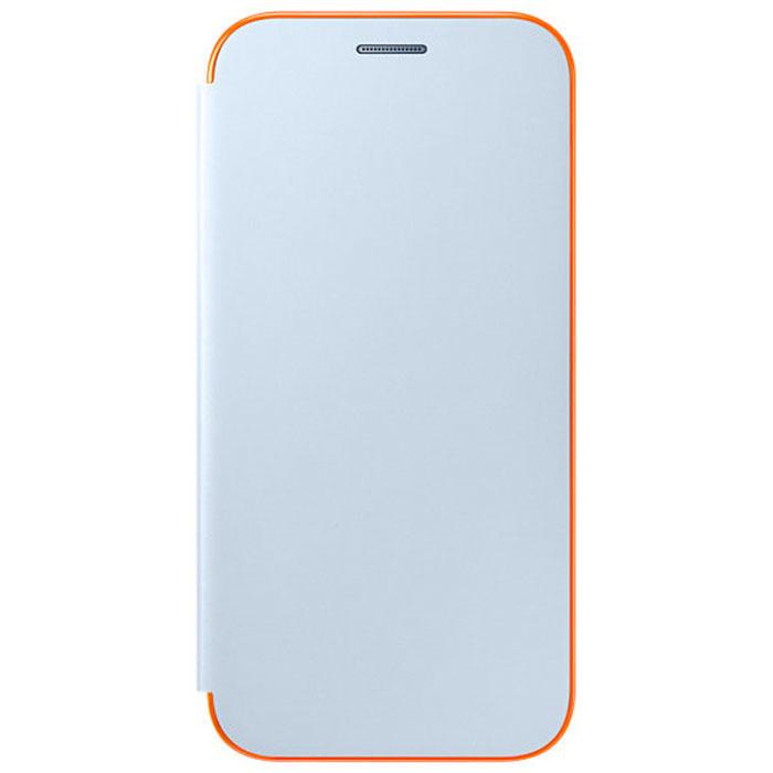 Чехол Samsung Neon Flip Cover для Galaxy A5 (2017) SM-A520F, голубой