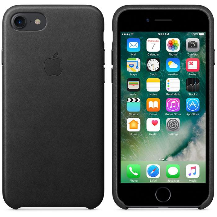 Чехол для Apple iPhone 7 Leather Case Black MMY52ZM/A