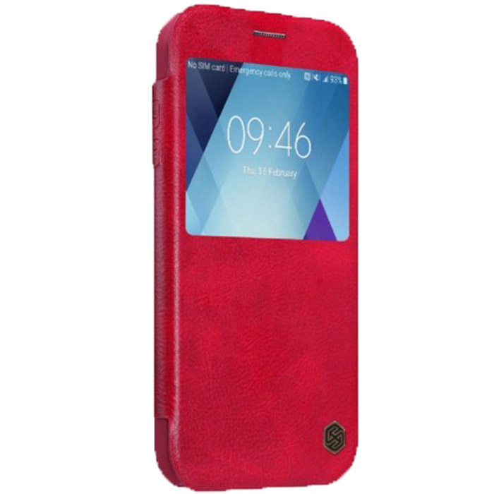 Чехол Nillkin Qin Leather Case для Samsung Galaxy A5 (2017) SM-A520F, красный