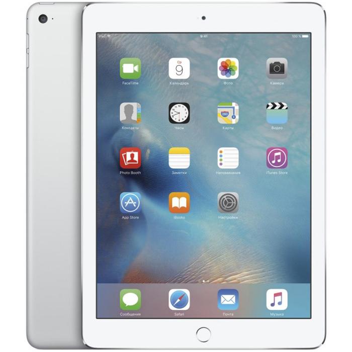 "Планшетный компьютер 9.7"" Apple iPad Air 2, 32Гб Flash, Wi-Fi, Silver (MNV62RU/A)"