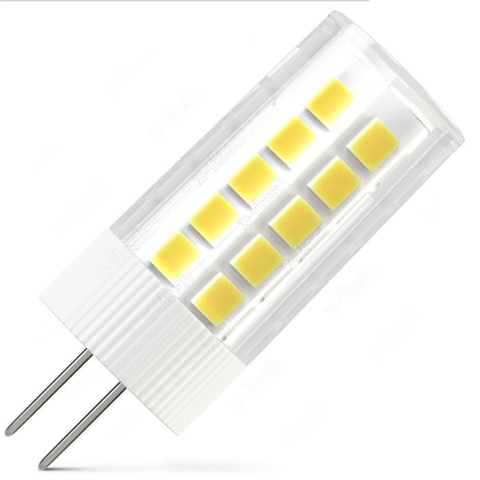 Светодиодная LED лампа X-flash Finger G4 3W 12V белый свет, керамика