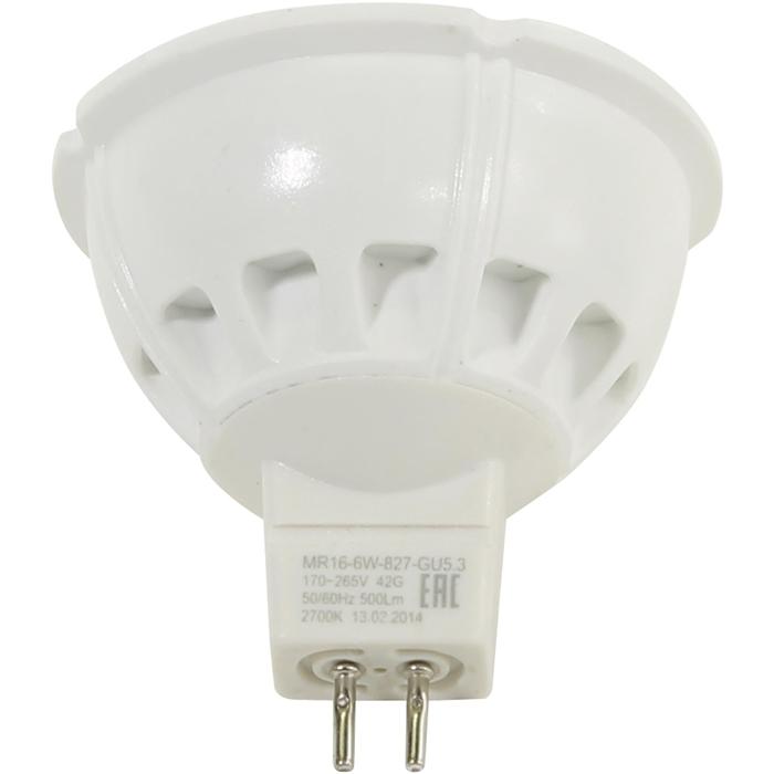 Светодиодная лампа ЭРА MR16 GU5.3 6W 220V желтый свет