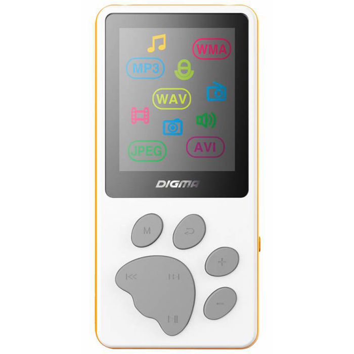 Плеер MP3 flash Digma S3 4Gb White