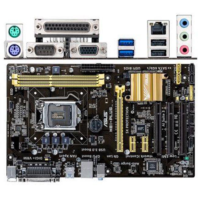 Материнская плата ASUS H81 LGA1150 DDR3 ( H81-Plus ) ATX, Ret