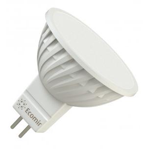 Светодиодная LED лампа ECOMIR MR16 GU5.3 4W 220V 43354 желтый свет, матовая