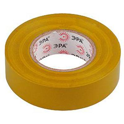Изолента ЭРА 19мм х 20м Желтая
