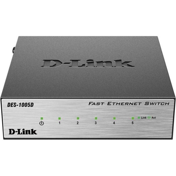Коммутатор D-Link DES-1005D/O2B 5 ports 100Mbps