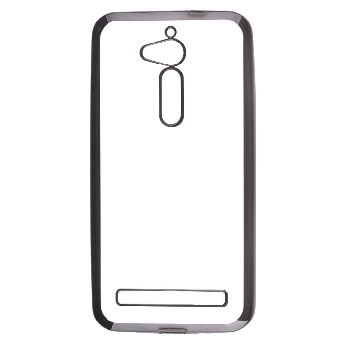 Чехол skinBOX 4People silicone chrome border case для Asus ZenFone Go ZB500KG серебристый