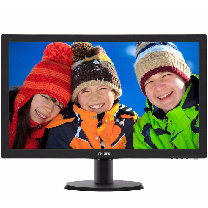 Монитор ЖК Philips 243V5LHAB5 23.6″ TN LED 1920×1080 5ms VGA, DVI, HDMI