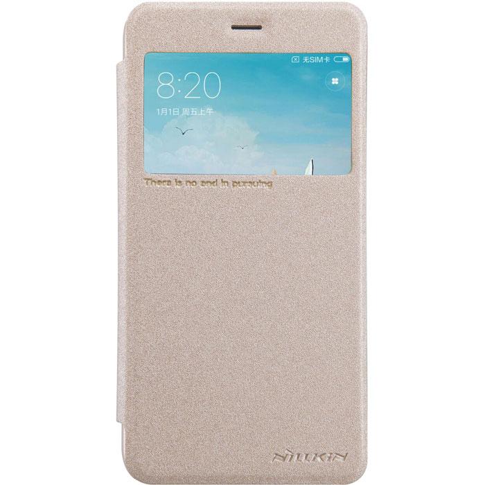 Чехол Nillkin Sparkle Leather Case для Xiaomi Redmi 4X, золотистый