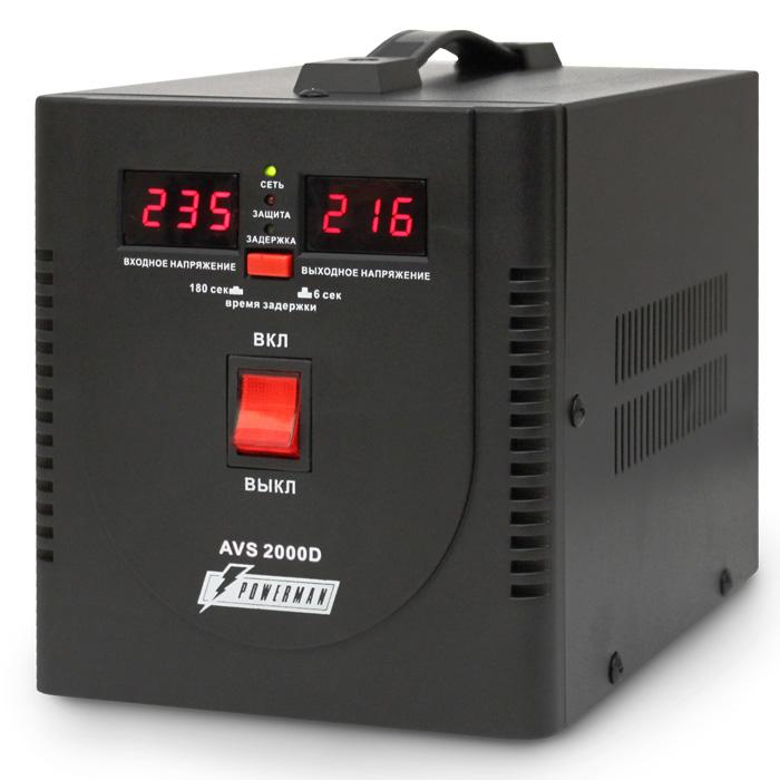 Стабилизатор Powerman AVS2000D Черный