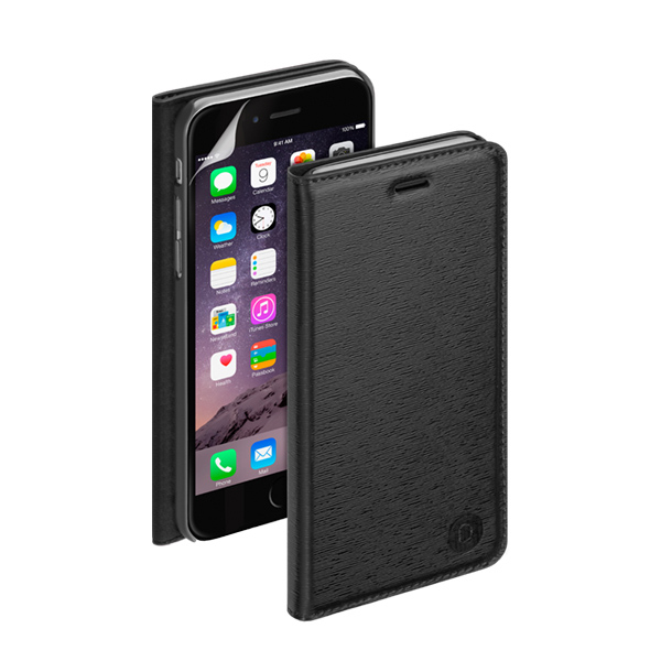 Чехол Deppa Wallet Cover PU с пленкой для iPhone 6 Plus/ iPhone 6s Plus, черный