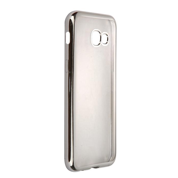 Чехол skinBOX silicone chrome border case для Samsung Galaxy A5 (2017) SM-A520F, серебристый
