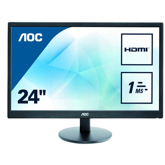 Монитор ЖК AOC E2470Swh 23.6″ TN LED 1920×1080 1ms VGA DVI HDMI