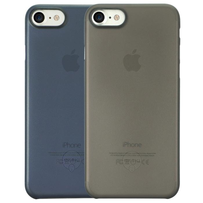Чехол Ozaki O!coat 0.3 Jelly для iPhone 7, два чехла в наборе, черный и темно-синий