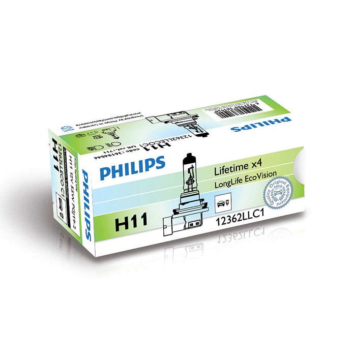 Лампа Philips H11 55W LongLife Ecovision 1 шт.