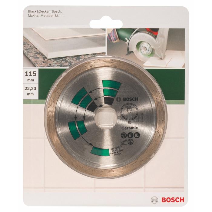 Алмазный диск по керамике Bosch DIY 115мм 2609256416
