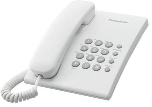 Телефон PANASONIC KX-TS2350RUW, белый