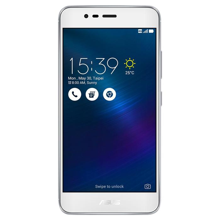 Смартфон 5.5″ ASUS ZenFone 3 Max ZC520TL 16Gb LTE 5.2″ Dual Sim серебристый ( 90AX0087-M00280 )