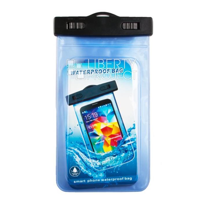 Водонепроницаемый чехол для смартфона до 5″, Liberty (синий)