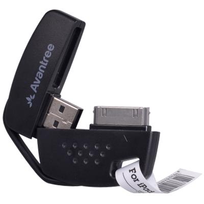 Кабель для Apple USB 30pin Avantree, брелок, черный (FDKB-TR102-BLK)