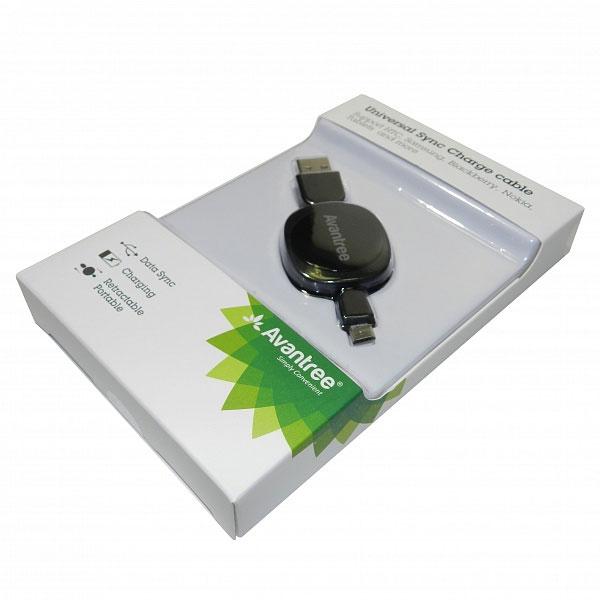 Кабель USB-MicroUSB Avantree черный с рулеткой 50 см FDKB-TR104-RT-BLK