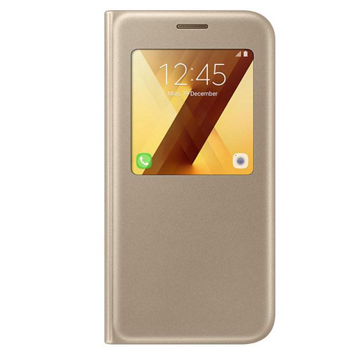 Чехол Samsung S-View Standing Cover для Galaxy A5 (2017) SM-A520F, золотистый