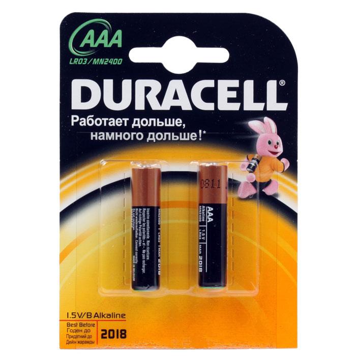 Батарейки Duracell LR03-2BL Basic AAA 2шт