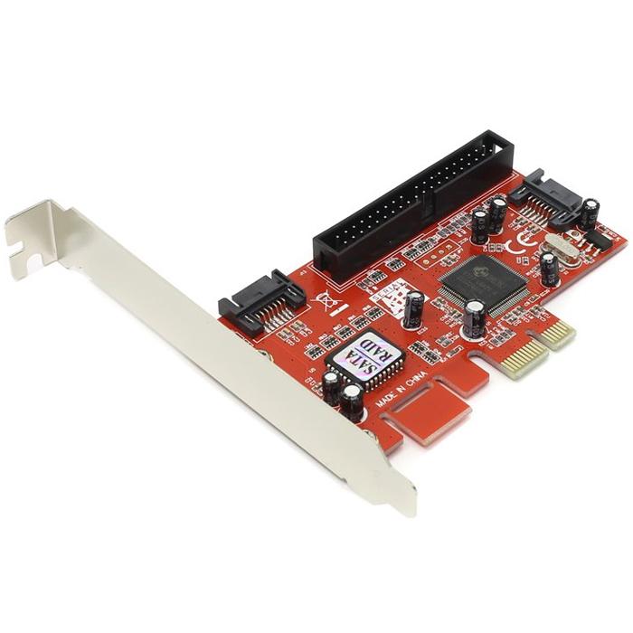 Контроллер PCI-E Orient J363SIR, PCI-E SATAII 300 RAID 2int port, ATA133 1int port, RAID 0/1