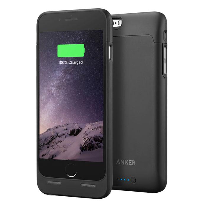 Чехол со встроенной батареей 2850mAh для iPhone 6 / iPhone 6S Anker MFI, ультратонкий, черный