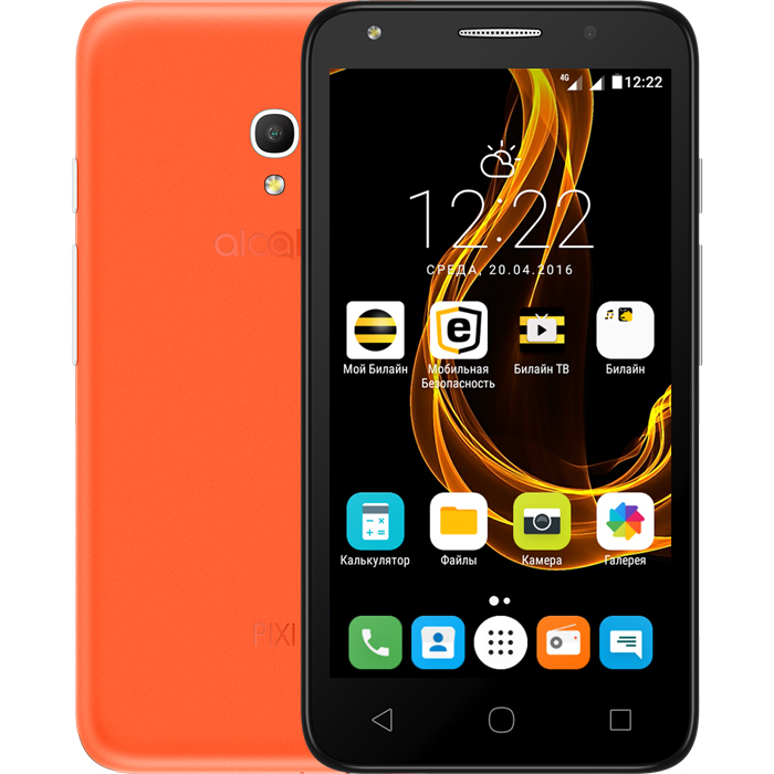 Смартфон Alcatel One Touch 5045D Pixi 4 (5) Orange