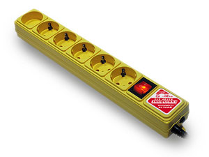 Сетевой фильтр Power Cube B 3.0м Yellow