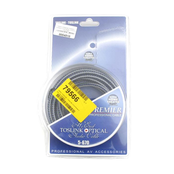 Кабель оптический Toslink(m) — Toslink(m) 5.0м Premier ( 5-670 5.0 ) Gold PRO