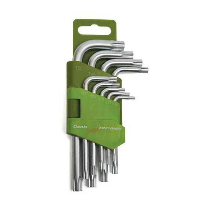Набор ключей шестигранных TORX 9 предметов коротких Дело Техники 563090